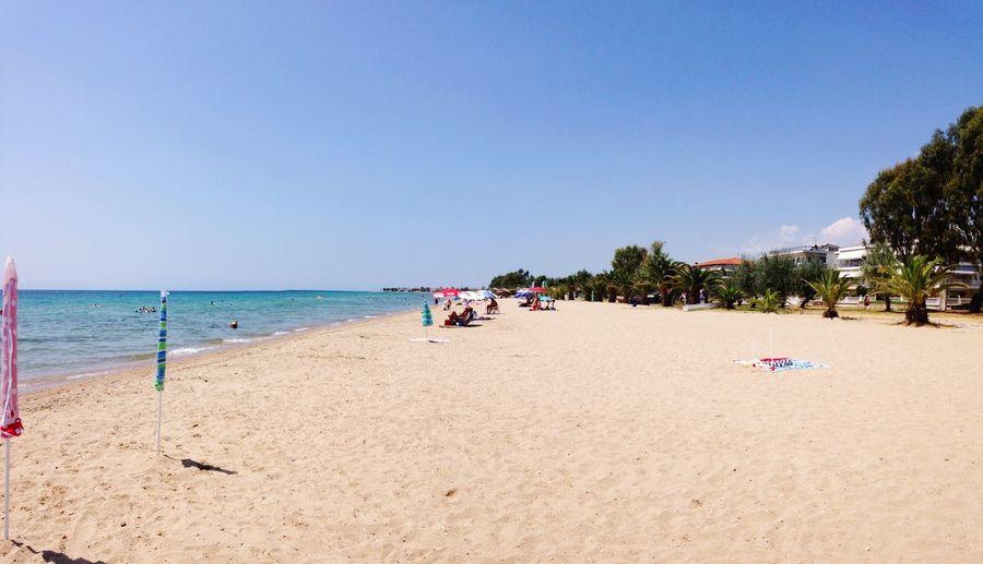 Summer, August 2016 Beach Sand Trees Sea Sun