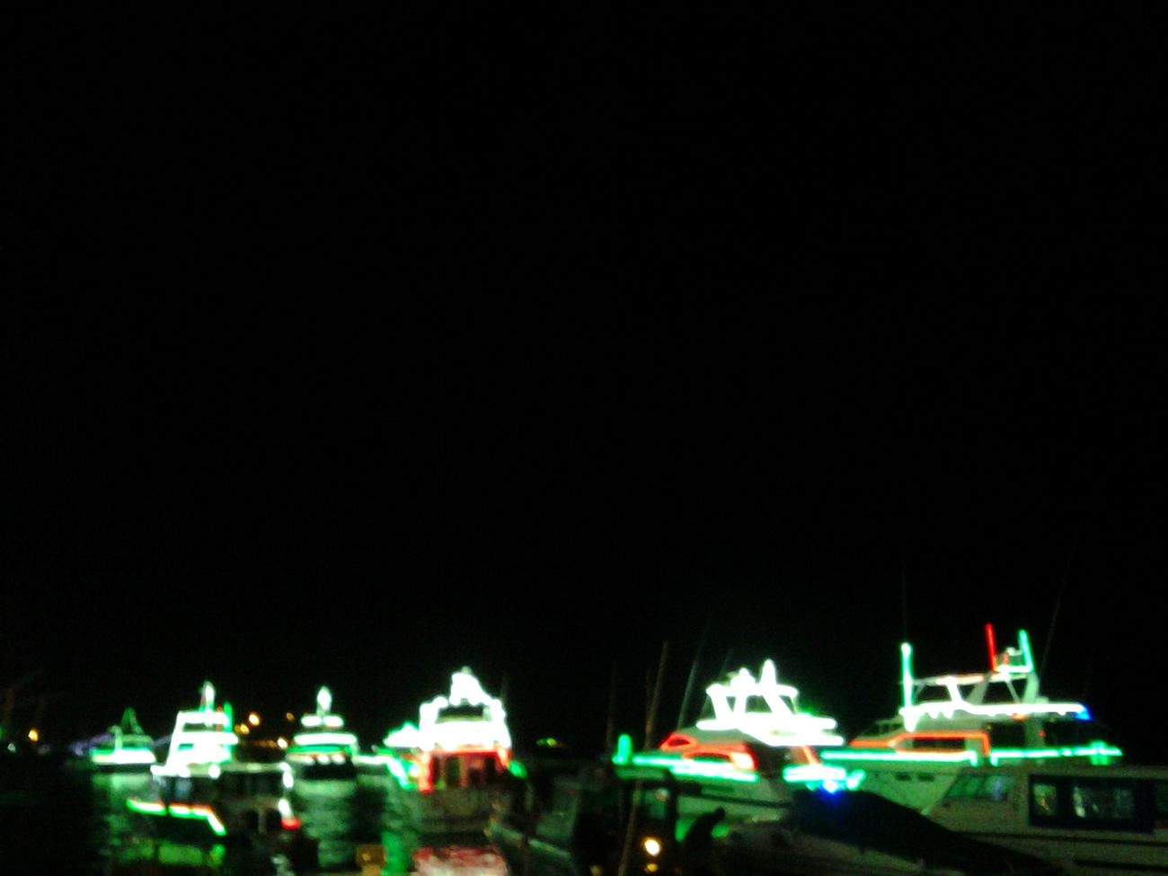 Night Lights Sea Night Blurry