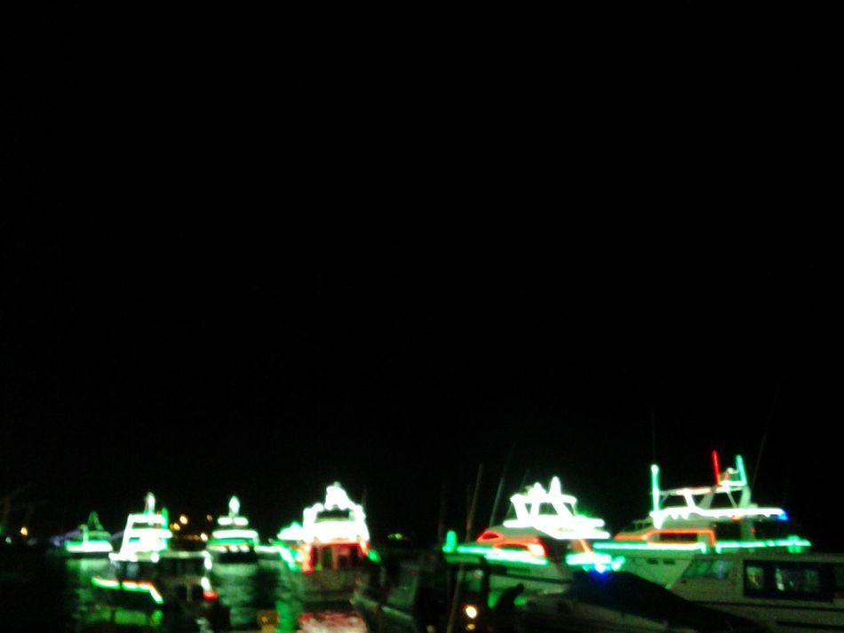 Night Lights Sea Night Blurry