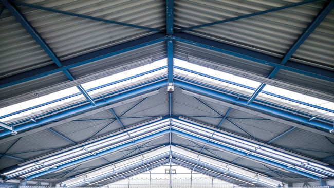 Architectural Design Architecture Backgrounds Blue Close-up Construction Day Full Frame Heaven Indoors  Light Low Angle View Metal Modern No People Pattern Roof Textured  Windows