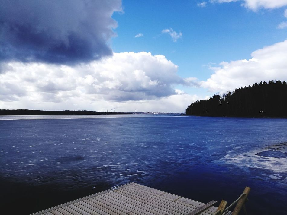 Cloud - Sky Scenics Water Sky Tranquility Nature Day Lake Outdoors No People Landscape Blue Beauty In Nature Travel Destinations Tree Horizon Over Water Nautical Vessel