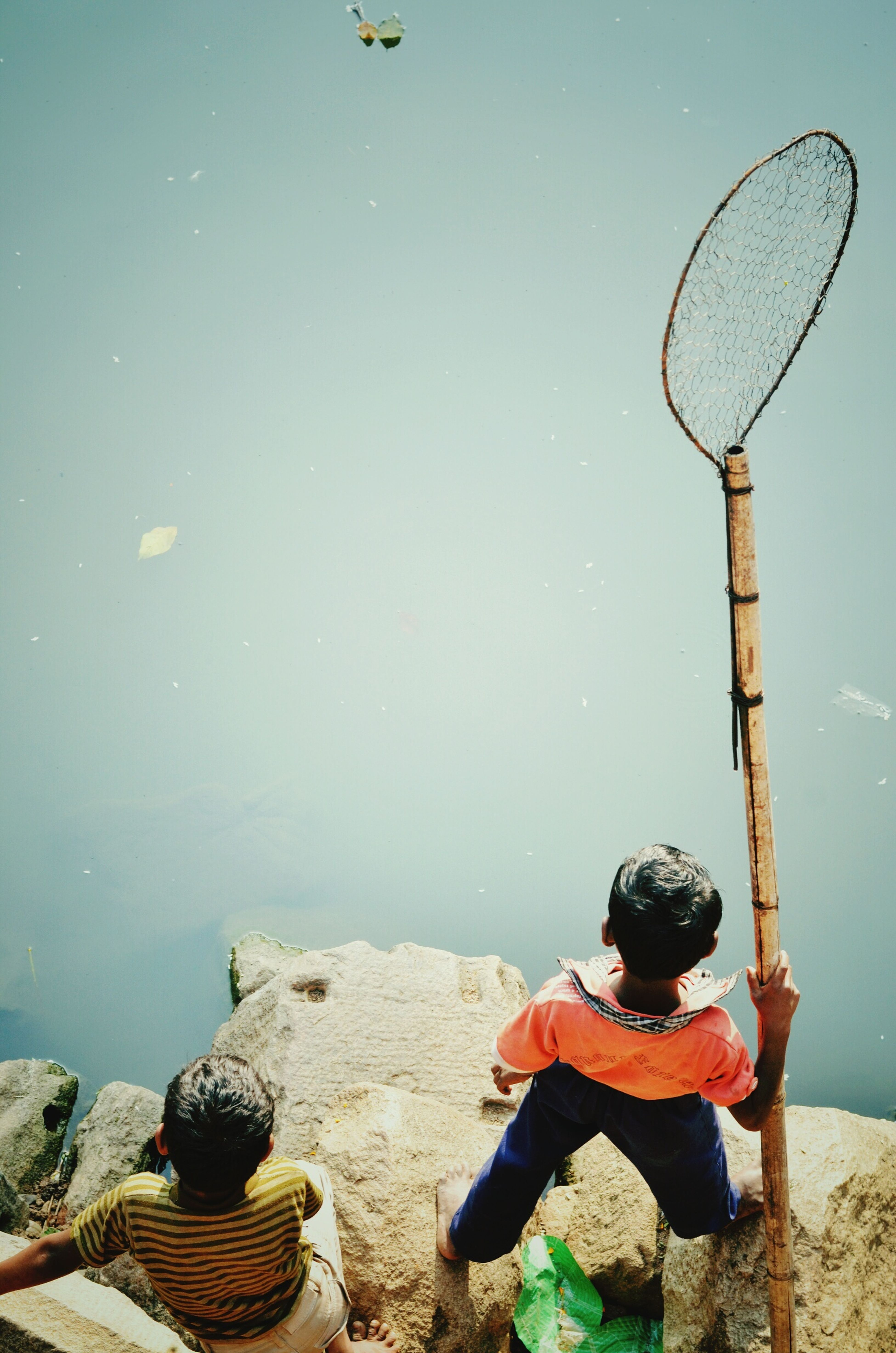 The Hunt . Wild Nature Children Fishing Net Fish Colours Hoddy First Eyeem Photo India_gram Fishing Friend Childhood Friend Nostalgicmoments Escape From Reality