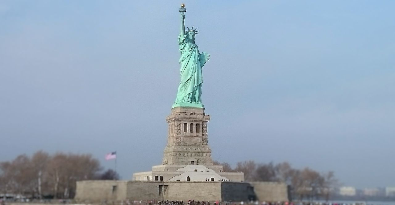 Beautiful stock photos of statue of liberty, Architecture, Building Exterior, Built Structure, Clear Sky