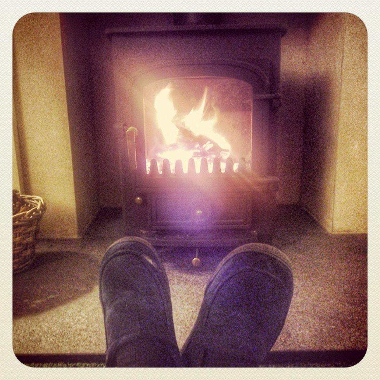 Roasty toasty feet in kincraig Kincraig Highlands Scotland