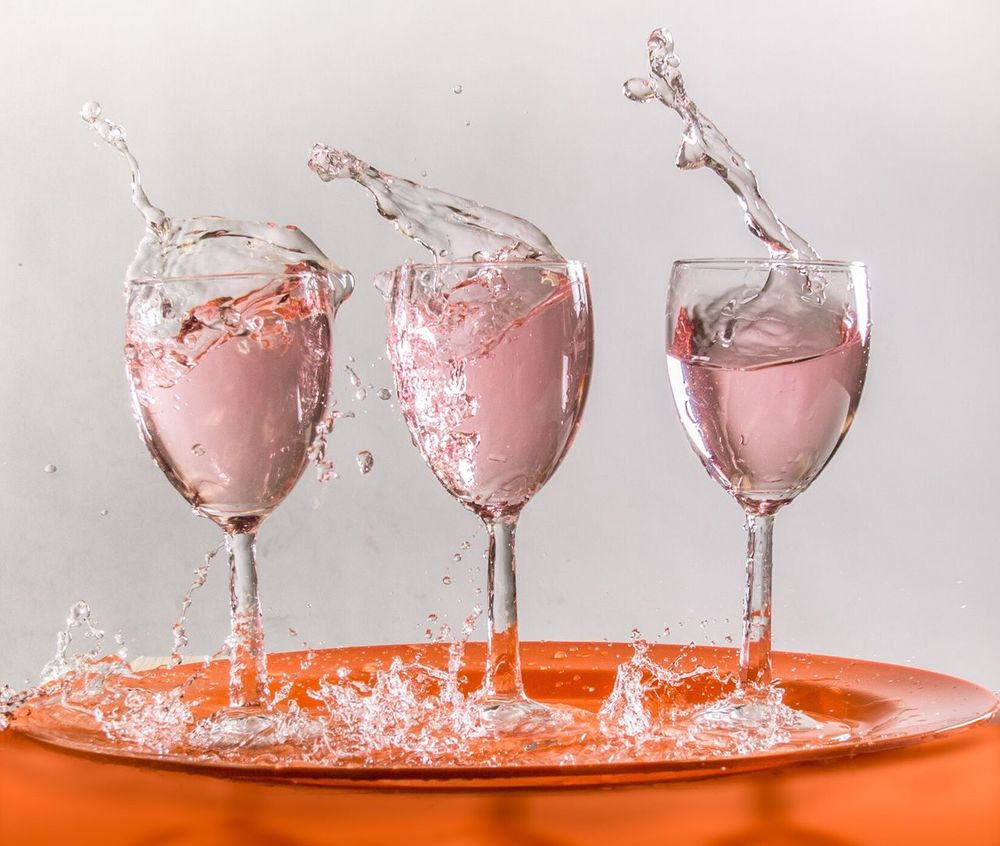 Splash Wineglass Splash Splashing Highspeedphotography Stopactionphotographer