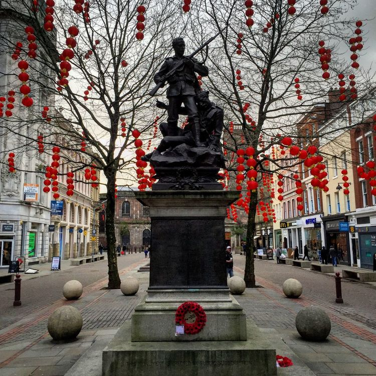 Manchester Statue Chinese New Year Lanterns EyeEm Best Shots IPhoneography City Life City View