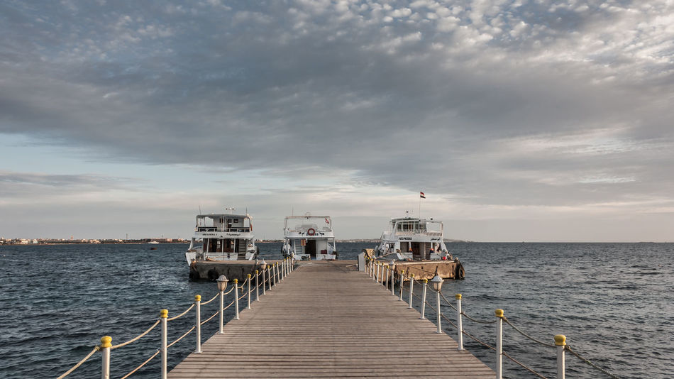 Boat Dock Boats Day Horizon Over Water Landscape Morning Nature No People Outdoors Scenics Sea Sea And Sky Seascape Sky And Clouds Travel Water