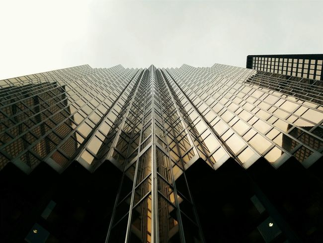 Bye TO! Architecture Vscocam Toronto Lookingup City Urban Building Gold Reflection Symmetry