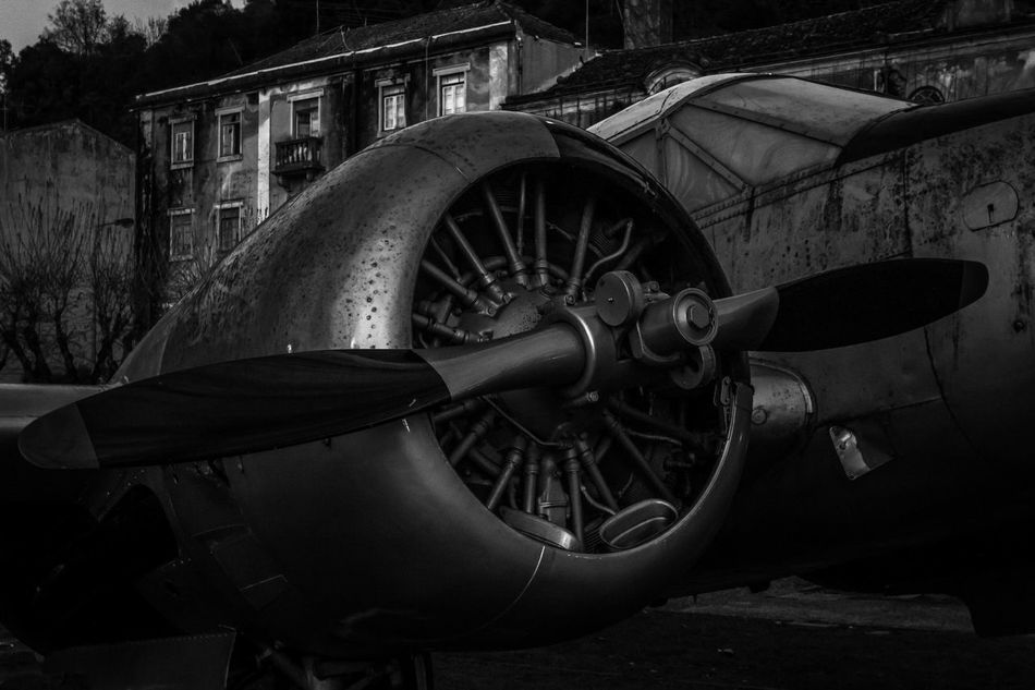 Acient Aircraft Airplane B&w Black And White Fighter Leiria Military Motor Old War
