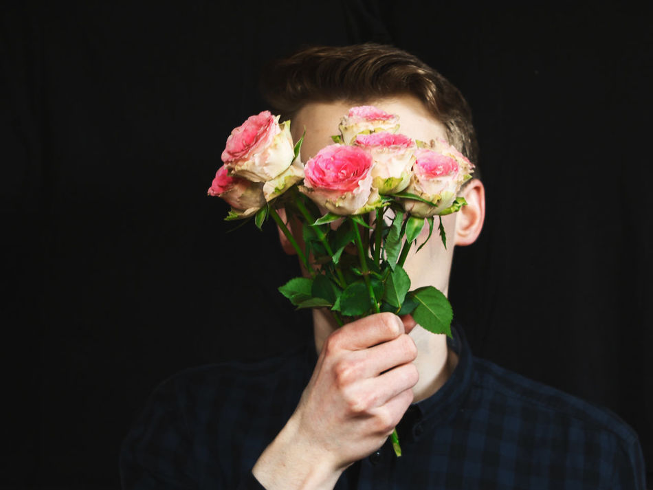 Art Art Is Everywhere ArtWork Black Background Break The Mold Close-up Colorful Colors Design Flower Head Fragility Holding Man Model Modern Modernart One Person People People Photography Photographer Photography Portrait Rose - Flower Studio Shot TCPM