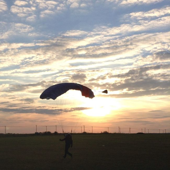 Skydiving Sunset Extreme Nofilter