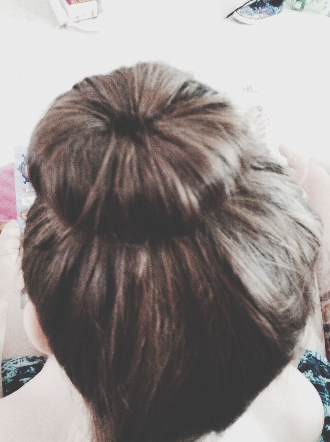 Did my first sock bun and it turned out cute. Sockbun  Cute Sister Hair