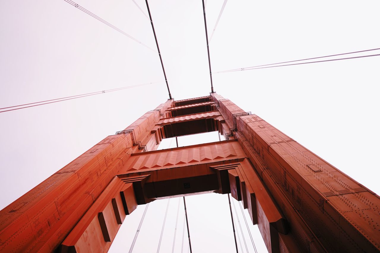 Golden Gate Bridge Moment // Built Structure Cable Architecture Low Angle View No People Building Exterior Sky Day Outdoors Clear Sky