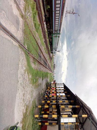 Rail gate... Traun Station Track LINE