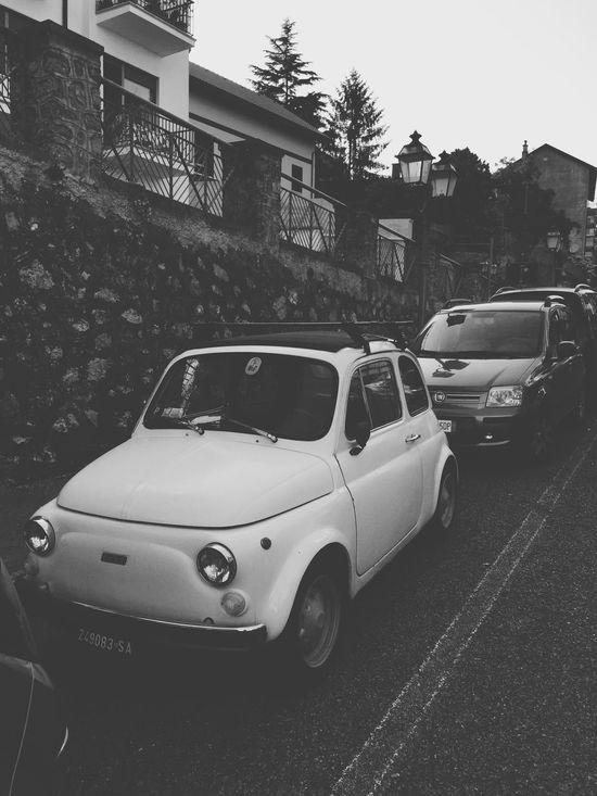 Dolce vita Dolcevita  Car Fiat Fiat500 Italy Vacation Blackandwhite Iwantone Shades Of Grey