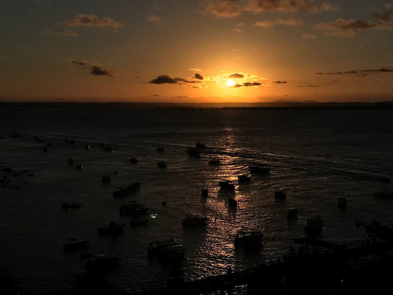 Sunset Sea Sun Orange Color Scenics Horizon Over Water Tranquil Scene Tranquility Idyllic EyeEmNewHere Sunset_collection Morro De São Paulo