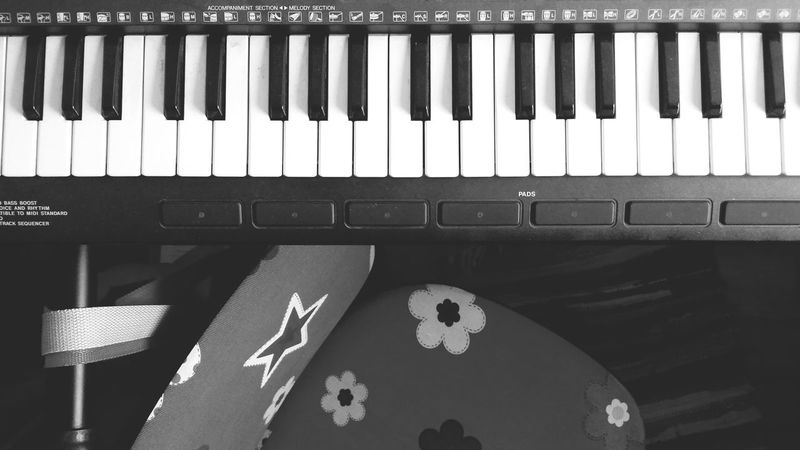 Music is our common language No People Multi Colored Close-up Indoors  Happy Day Piano Piano Keys Synthesizer Children's Room Simplycity Black And White Photography Ebony And Ivory Harmony Flower Object Imagine John Lennon Star Melody Music Musician Music Brings Us Together
