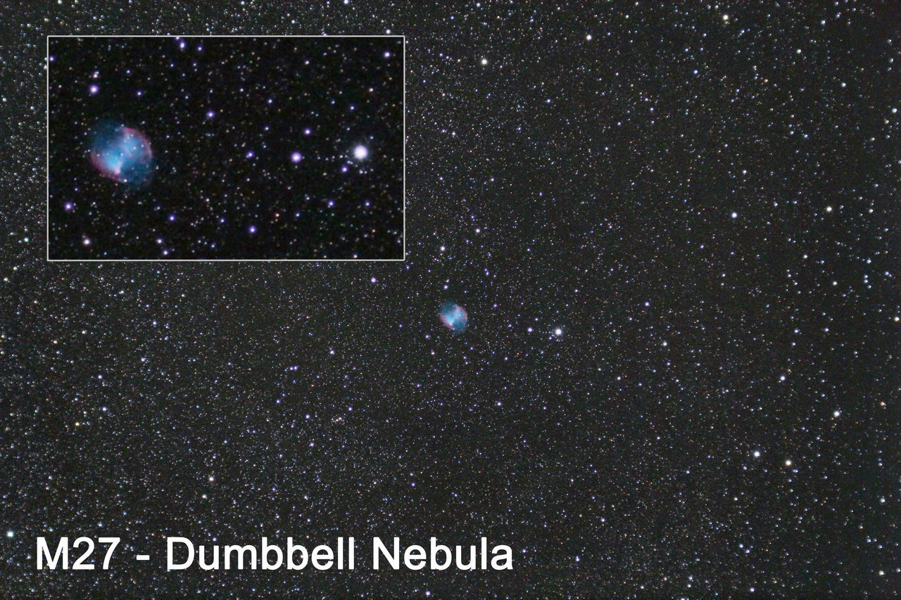 M27 - Dumbbell Nebula Astro Astronomy Astrophotography Charles Messier Messier Nebula Nebulas Nébula Picture Space Widefield