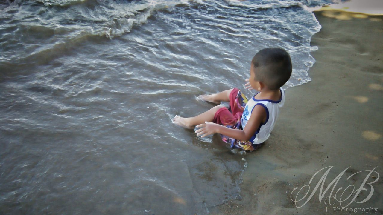 Child's perspective are the best. No worries, just having fun 💖 Child Children Only Childhood One Person Water People Full Length Boys Day Outdoors Wave Nature Beach Photography Live For The Story EyeEmNewHere