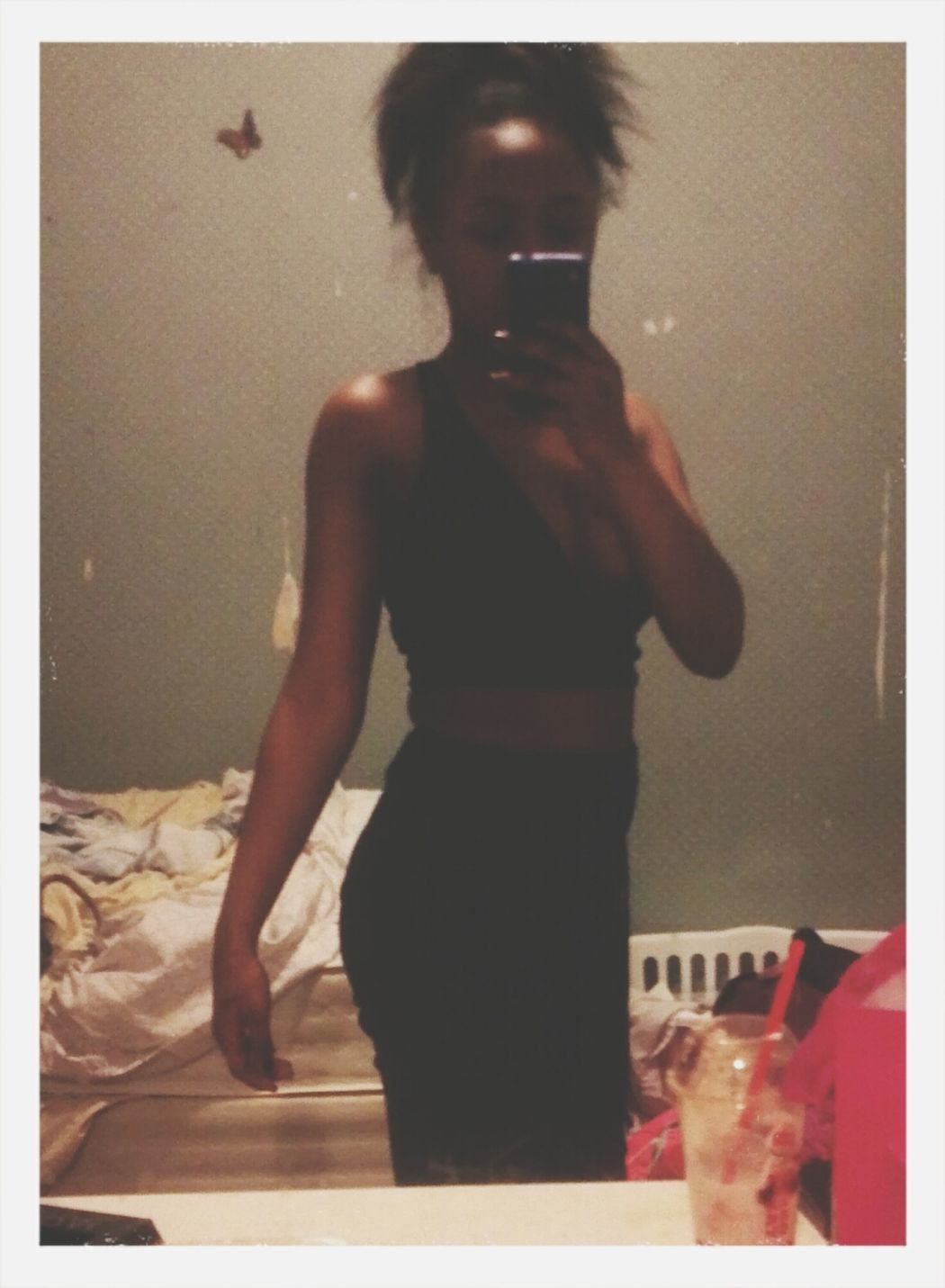 Trying on my new top New Clothes 😍😍😍😍😍😍😍😍😍😍😍😍😍 All BLVCK Im Cute