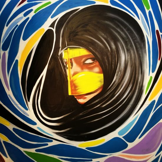 Dubai Graffiti Graffitiart Woman Portrait Woman Woman Face Woman Of EyeEm Burka  Arabic Girl Arabic Culture Arabic Art Women Around The World Art Is Everywhere