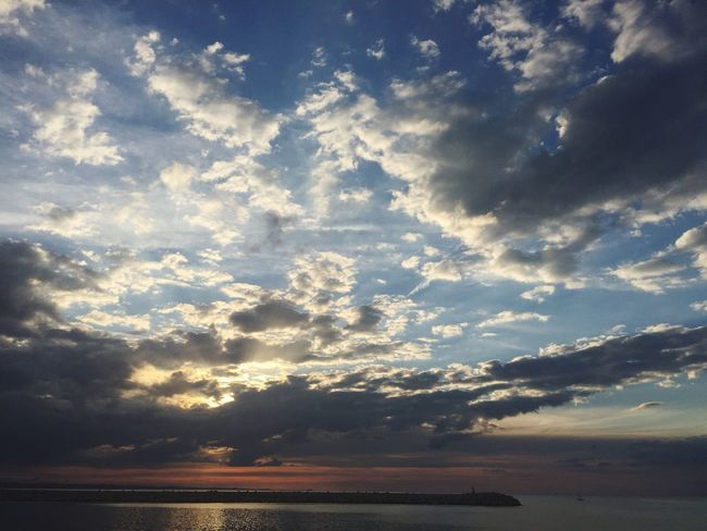 Life is... Look around you That's Me Hello World Relaxing Enjoying Life Sunset PortodiAncona Adriatic Sea Sea And Sky
