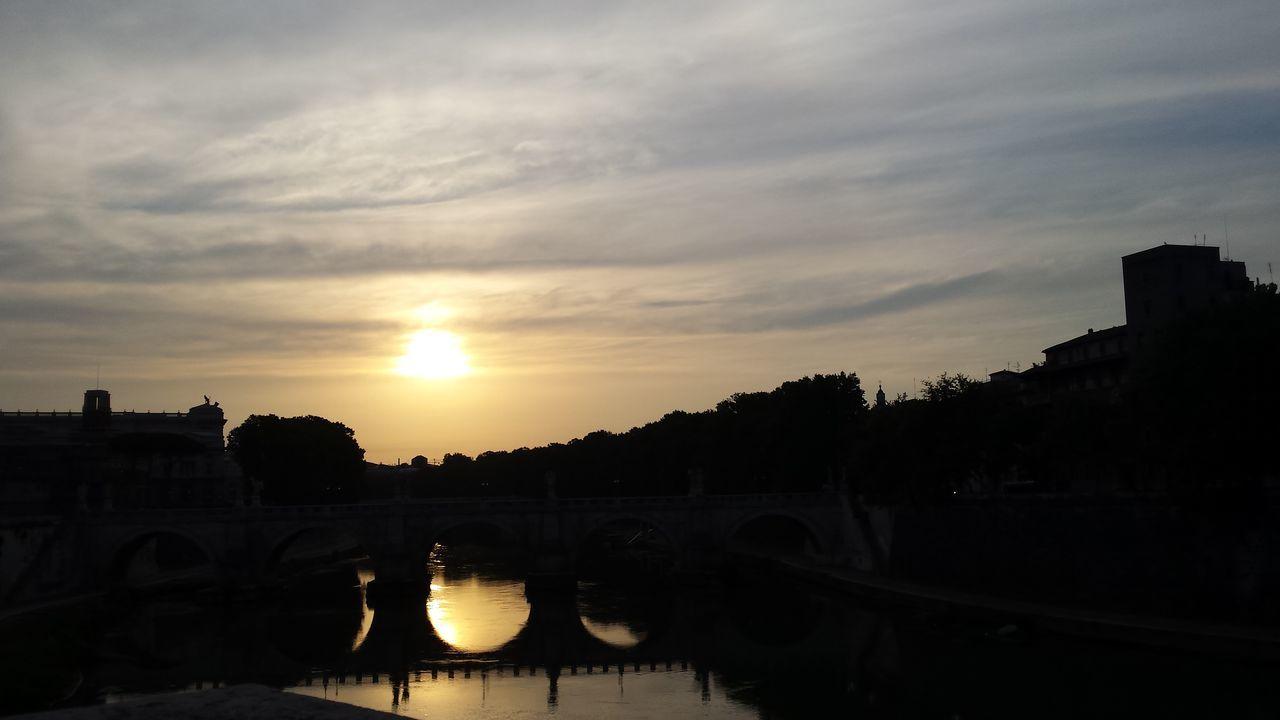 Stamattina Engelsbrücke Romheutefrüh Romamia Frühmorgens Leere Stadt Alba Bellaroma