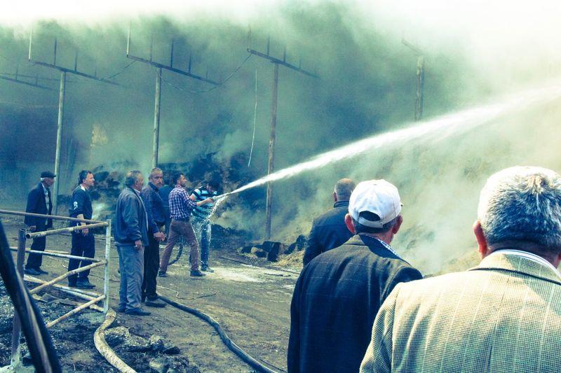Men Fire Crisis Fireman Togetherness Business Security