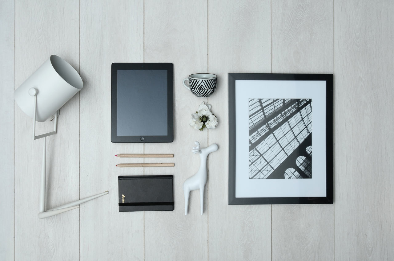 Architecture Close-up Communication Day Directly Above Indoors  Keyboard No People Picture Frame Table Technology Wireless Technology