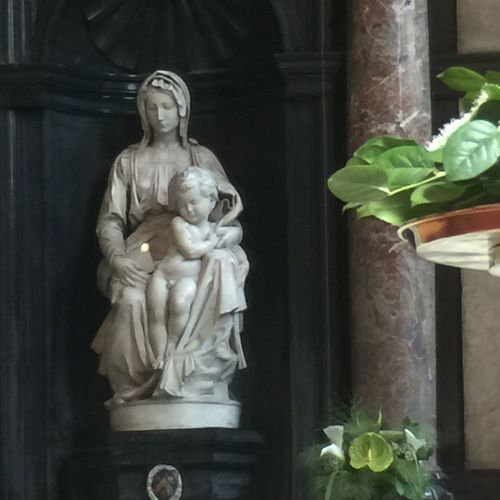 Madonna and Child in Lady of Bruges church Human Representation Art And Craft Male Likeness Female Likeness Spirituality Close-up