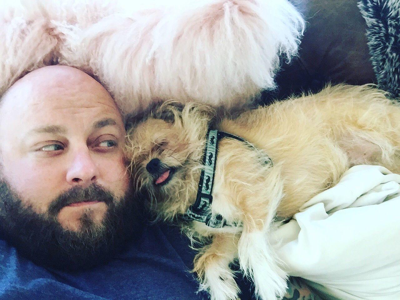 Derp Brusselsgriffon Everydayimbrusseling Beardedman Beard Bald Manandhisdog