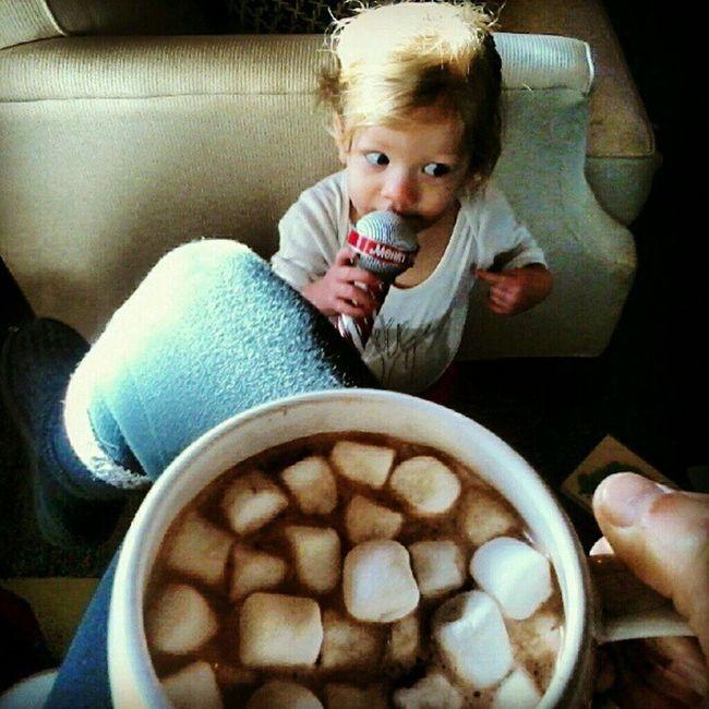 Finally cold enough for this Hotchocolate Itgetscoldintexas Babykaraoke Merryokee ilovemyjob missvrt