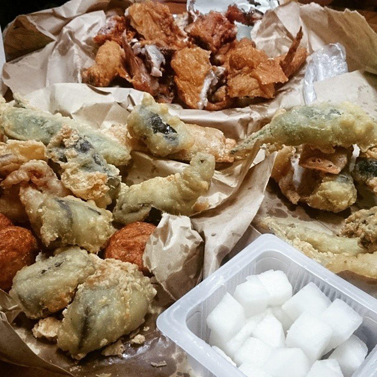 튀김들의 파티 일상 튀김 치킨 Food instafood