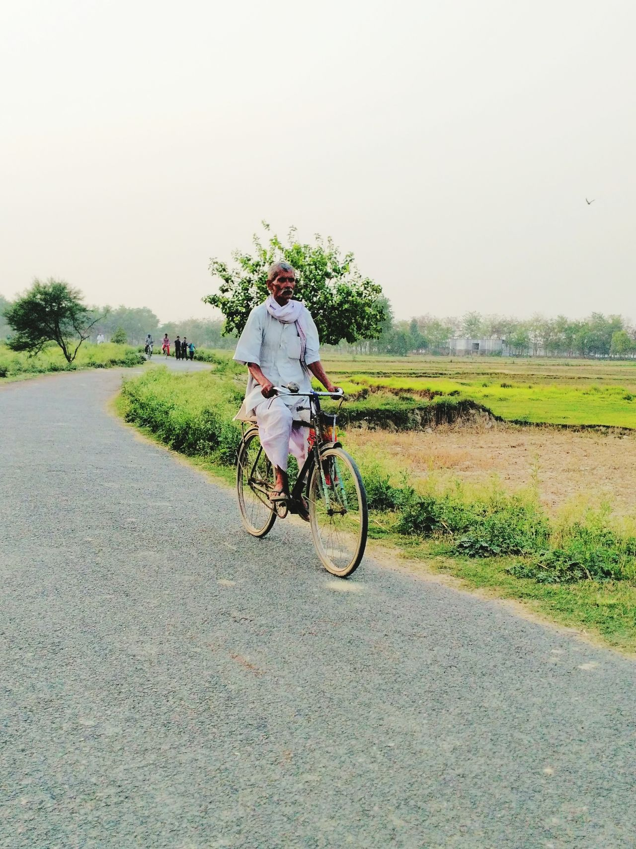 Bicycle Rural Scene Transportation Outdoors One Person The Way Forward