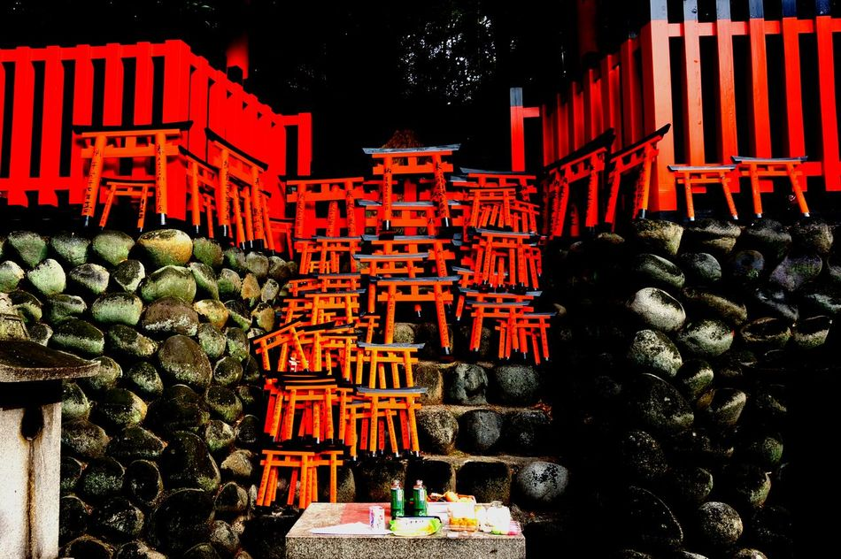 伏見稲荷大社 Fushimi Inari Shrine Kyoto, Japan TORII Small Torii Vermilion