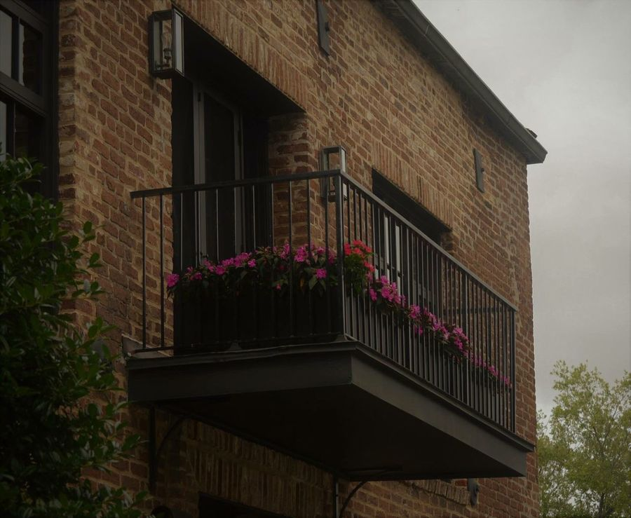 Those balconies! Charleston sc Architecture Flower Building Exterior Window Built Structure Plant Outdoors Growth No People Day Window Box Nature Sky Balconies Around The World City