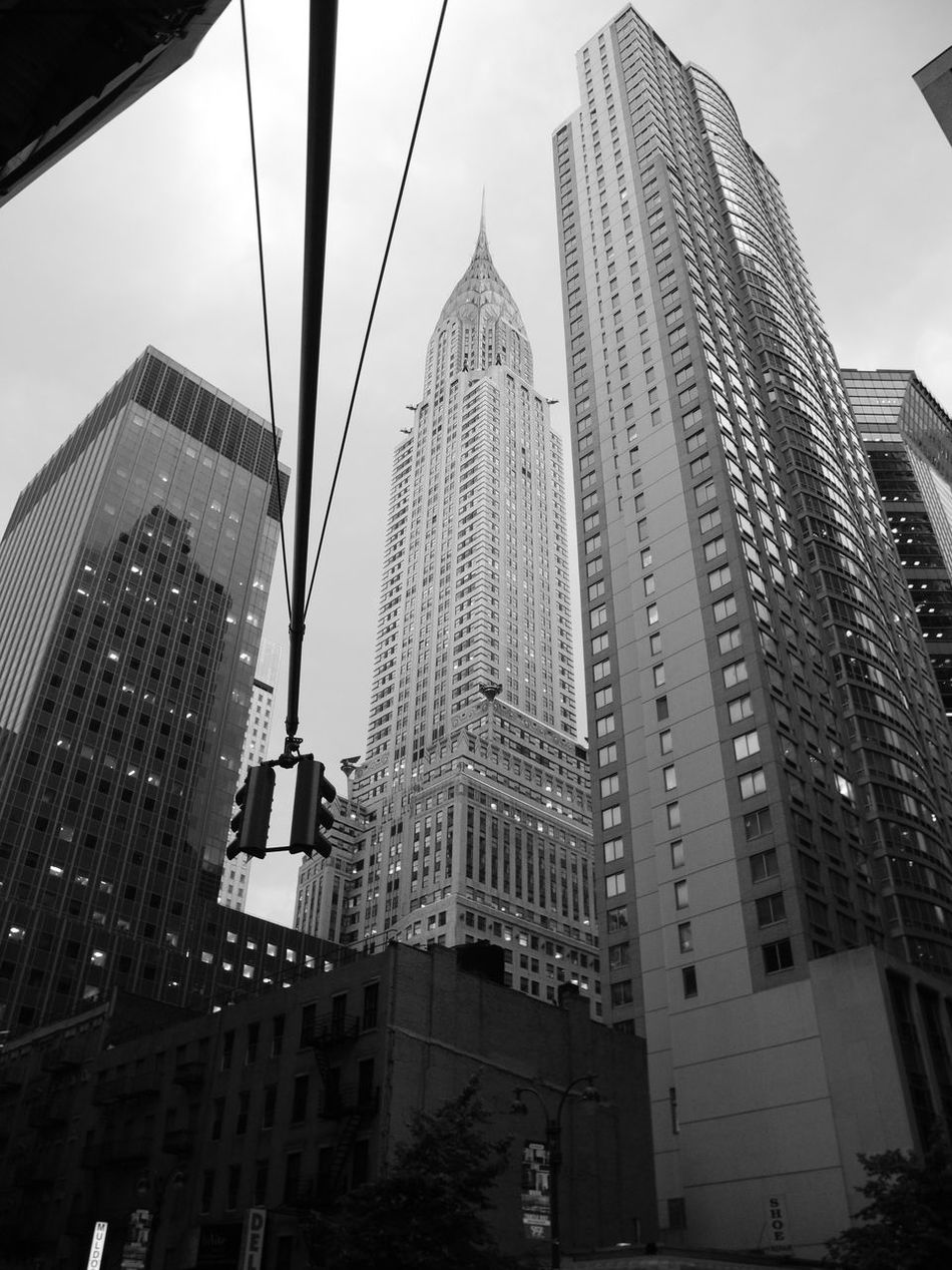 New York City Architecture Building Exterior Built Structure City City Life Day Futuristic Low Angle View Outdoors Sky Skyscraper Tall - High The City Light Tower