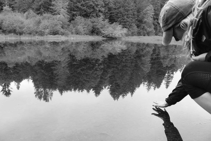 Reflection One Person Lake Leisure Activity Water Day Tree Outdoors People Adult Nature Real People Adults Only One Man Only PNW Photography Candid Photography PNW At Its Finest PNWweather Young Women Adult Blond Hair Adults Only Three Quarter Length Young Adult Only Men