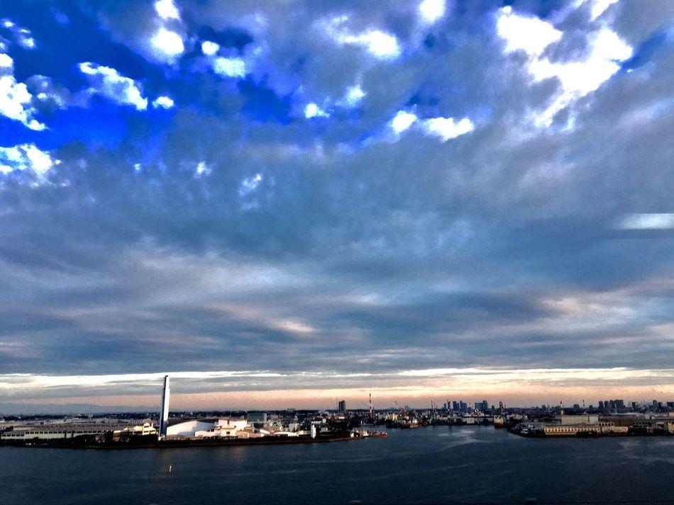 Yokohama Tsubasa Bridge Cloud - Sky Sky Transportation Sea Nautical Vessel No People Water Mode Of Transport Outdoors Nature Day Scenics Beauty In Nature