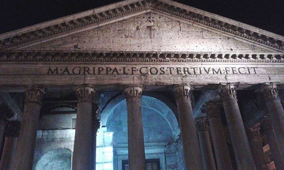 Pantheon Agrippa Adriano Hadrian Colonne Rome Roma