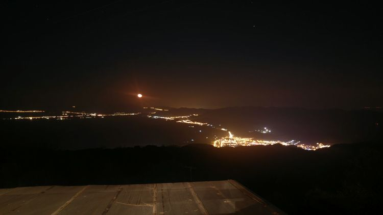 Night Outdoors Illuminated Nature Sky Beauty In Nature No People Astronomy Star - Space Kavala Scenics Travel Greece Dramatic Sky Landscape One Person Mountain