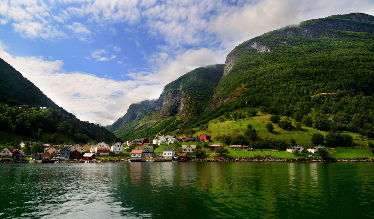 Undredal, Norway Norway Undredal Architecture Beauty In Nature Cloud - Sky Day Flåm Lake Mountain Mountain Range Nature No People Outdoors Reflection Scenics Sky Tranquil Scene Tranquility Tree Water Waterfront