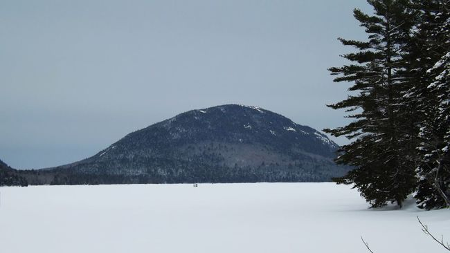 Maine Acadianationalpark Winterphotography Eaglelake Icehouse Icefishing Snowy Mountains Frozen Lake WinteractivityMaine Winter