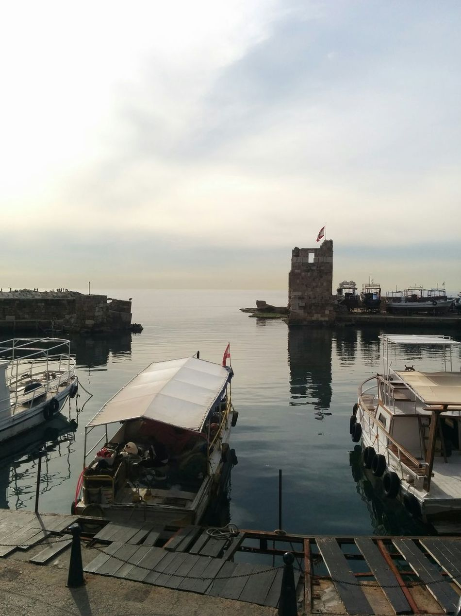 The Gate To The Ancient World. Sea Reflection Water Nautical Vessel Moored Harbor Tranquility Outdoors City No People Sunset Day Sky Architecture