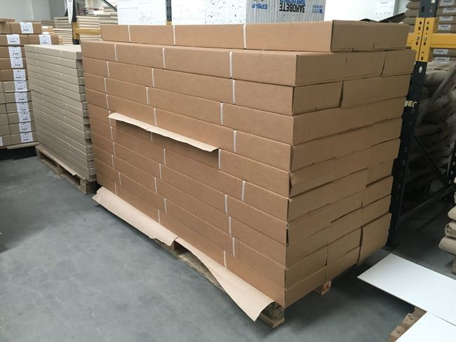 Warehouse Cardboard Box - Container No People Distribution Warehouse Stack Cardboard Box Indoors  Day Horizontal