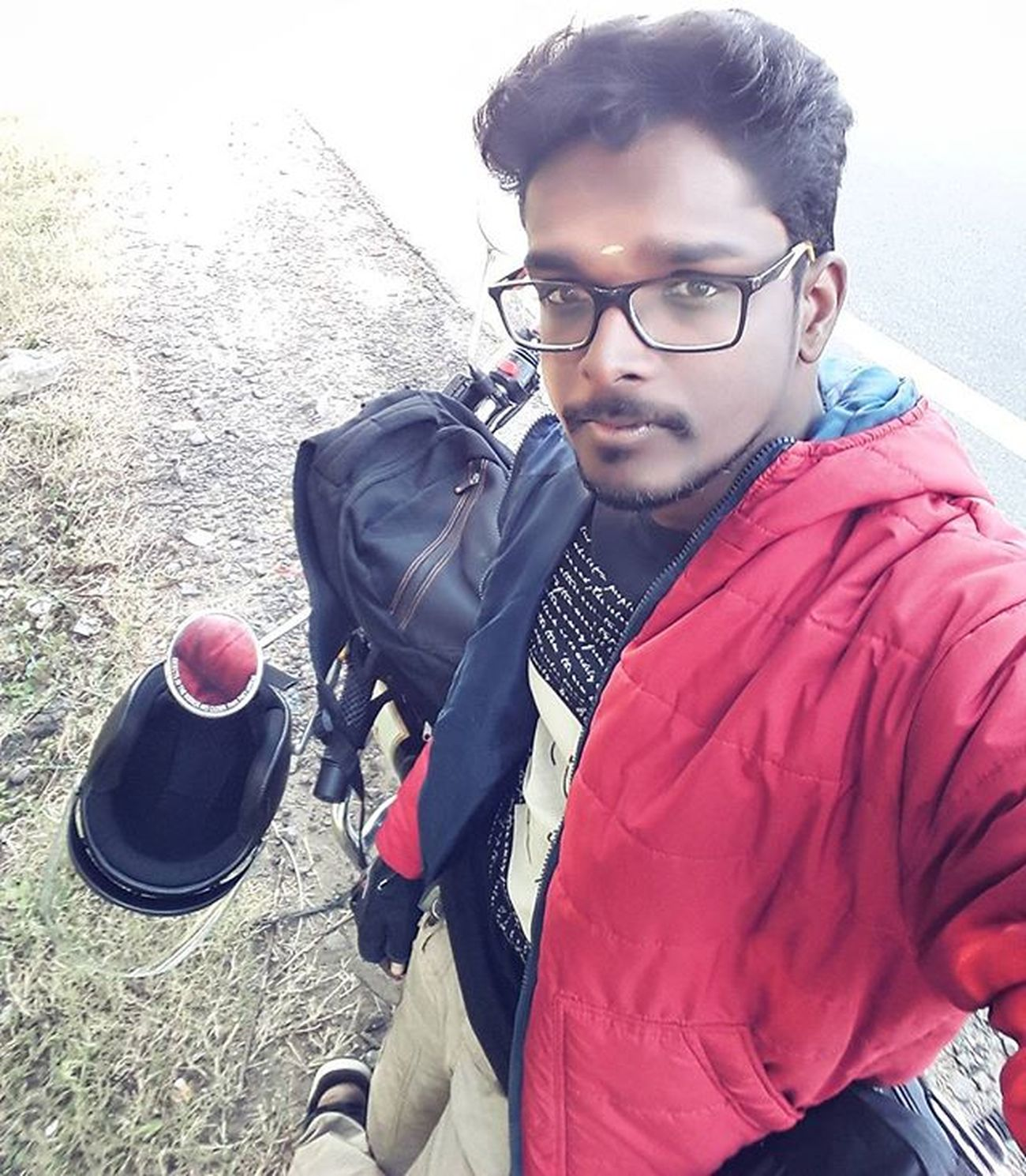 Happiness is riding in invisible road 😎 Ride Invisibleride SnowRide January Soloride Longride ECR Pongal Karaikal Cinemakaran