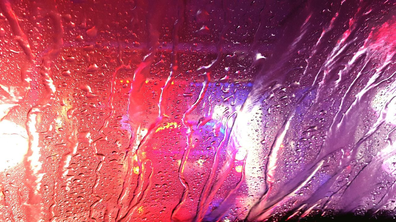 Full Frame Shot Of Wet Windshield