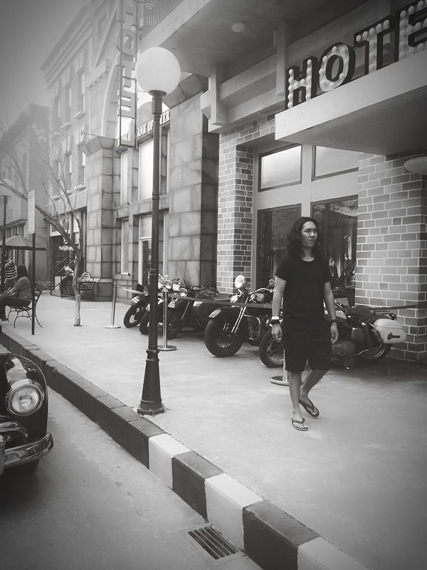 Museum Angkut Batu Malang Classic Motorcycles Black And White INDONESIA