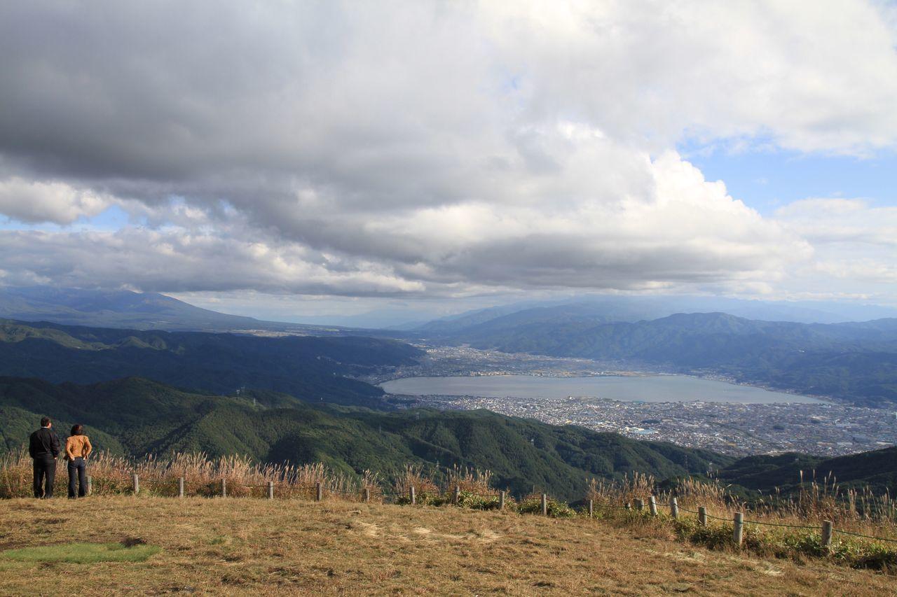 Japan Nagano Shiojiri Photography Viewpoint Hill Plateau Lake Suwa Lake Mountain Nature