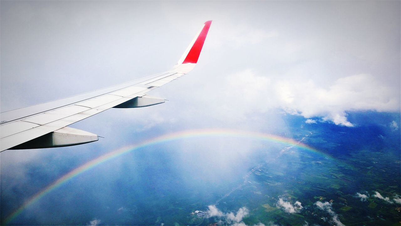 Aerial Shot Windows Phone Lumia1020 Cmmaung Cmmaung.me Rainbow Clouds Sky Holiday POV The Traveler - 2015 EyeEm Awards